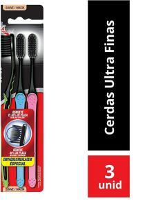 3 unidades Escova Dental Colgate Slim Soft Black + recorrência - R$16