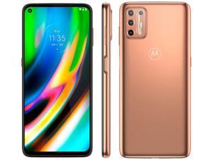"Smartphone Motorola Moto G9 Plus 128GB Ouro Rosê - Octa-Core 4GB RAM 6,8"" Câm. Quádrupla R$1799"