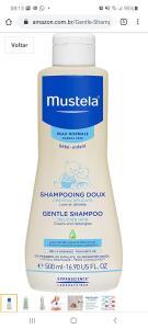 Gentle Shampoo, Suave e Não Arde os Olhos, Mustela Bebê, Azul, Médio 500 ml | R$22