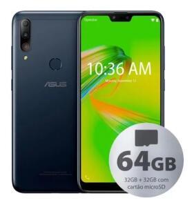 Celular Asus Zb634kl Zenfone Max Shot 64gb (32gb+32gb) Preto | R$798