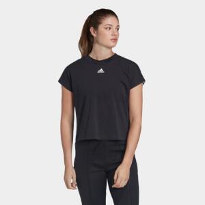 Camiseta Adidas MH 3S Feminina - Preto e Branco | R$50
