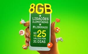 OI PRÉ-PAGO | 8GB + WhatsApp e Messenger por R$25