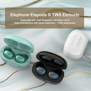 Elephone Elepods S TWS com HiFi, microfone duplo, bluetooth 5.0