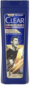 APP(Primeira compra R$6,02 cada) 4 unid Shampoo Anticaspa Clear Men Limpeza Profunda 400mL