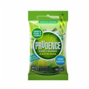 Preservativo Prudence Caipirinha C/3 | R$1,99