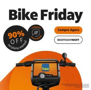 Bike itau - 90% de desconto no plano mensal