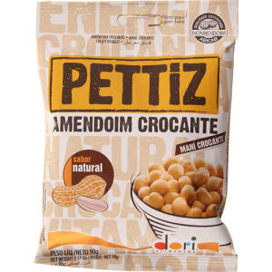 [APP] Pettiz Amendoim Crocante Natural Dori 90g | 6 por R$10 (R$1,66 unid)