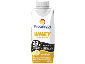 Bebida Láctea Piracanjuba Whey Banana Zero Lactose - 250ml | R$3