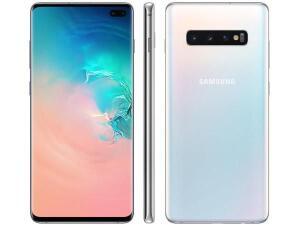 "[ CLIENTE OURO + APP ] Smartphone Samsung Galaxy S10+ 128GB Branco 4G-8GB RAM Tela 6,4"" Câm. Tripla + Câm. Selfie Dupla R$2479"