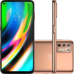 Smartphone Motorola Moto G9 Plus XT2087 - 128GB Ouro Rose - R$1785