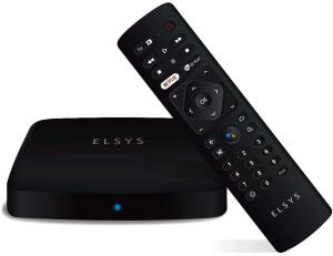 Receptor de TV Via Internet Streaming Box Elsys, Android TV - R$386