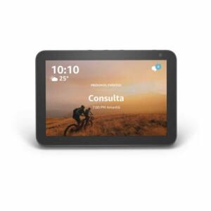 "[À Vista] Echo Show 8 Amazon Smart Speaker Preta Alexa em Portugues com Tela de 8"" | R$629"