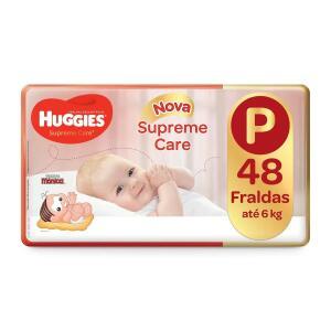 Fralda Huggies Supreme Care Mega P 48 Unid. (mín 3 pacotes: R$0,57 a tira)