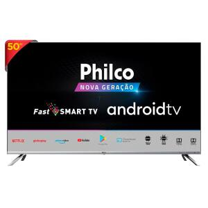 "SMART TV PHILCO 50"" ANDROID PTV50G71AGBLS 4K LED | R$1999"