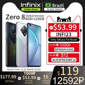 Smartphone versão global Infinix Zero 8 8GB 128GB   R$990