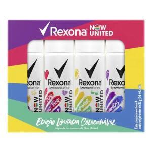 Kit Desodorante Aerosol Rexona Now United Summer 53ml - 4 Unidades | R$ 15