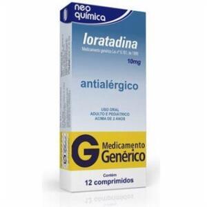 Loratadina 10mg 12 Comprimidos Neoquimica Genéricos | R$ 3,29