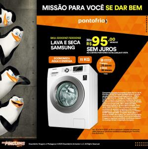 Lava e Seca Samsung WD4000 WD11M44733W com Motor Digital Inverter Branca – 11Kg