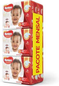 [PRIME] Huggies Pacote Mensal Supreme Care Mega G, 192 Fraldas - R$129