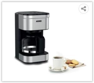 Cafeteira Elétrica Arno Preferita CFPF para 18 Xícaras – Preto/Inox | R$ 119