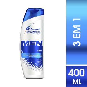 [03 unidades] Shampoo Head & Shoulders Men 3em1 400ml