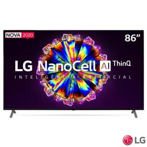 "Smart TV NanoCell 4K LG LED 86"" com Controle Smart Magic e Wi-Fi - R$19.999"