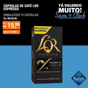 [SamsClub] Cápsulas de Café Lor ou Pilão - Leve 6, Pague 3