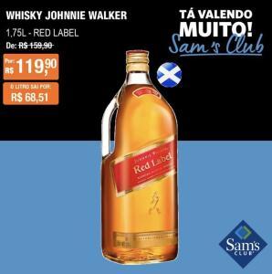 [SamsClub] Whisky RedLabel 1.75 L | R$120