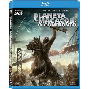 Blu-Ray 3D + 2D Planeta Dos Macacos: O Confronto | R$ 10
