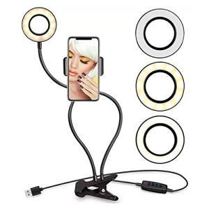 Ring Light Completo Suporte Celular Maguiagem Live Stream Youtuber - R$42