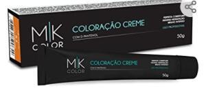 Coloração Creme, Mk Cosmetics, Louro Claríssimo Bege 10.31 | R$4