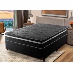 Cama Box Casal Umaflex Essencial com Eurotop e Molas Ensacadas 66x138x188 cm | R$899