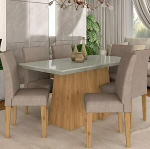 [R$384 com Ame] conjunto sala de jantar 6 cadeiras cinamomo | R$768