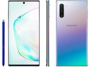 "(CLIENTE OURO + APP) Samsung Galaxy Note 10 256GB Prata 4G - 8GB RAM 6,3"" Câm. Tripla + Câm. Selfie 10MP R$2879"