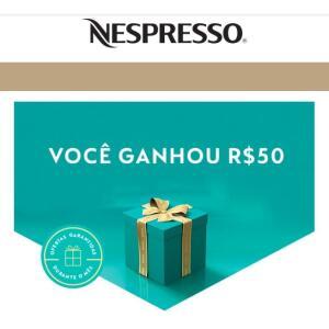 [Usuários selecionados] R$ 50,00 de crédito no site da Nespresso