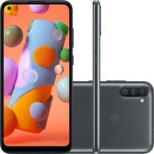 "[ AME + CC Shoptime ] Smartphone Samsung Galaxy A11 Dual Chip Android 10 Tela 6.4"" Octa-Core 64GB"