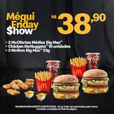 2 McOFERTAS MÉDIAS BIG MAC + CHIKEN McNUGGETS 10 UNIDADES + 2 MOLHOS BIG MAC | R$39
