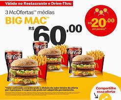 3 McOFERTAS MÉDIAS BIG MAC | R$60