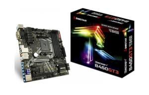 Placa Mãe Biostar Racing B450GT3, Chipset B450, AMD AM4, mATX, DDR4 | R$649