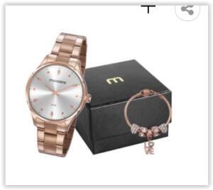 Relógio Feminino Analógico Mondaine 32108LPMVRE1K com Pulseira | R$ 178