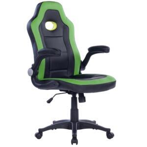 Cadeira Gamer Monaco Preta E Verde | R$439