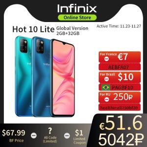 Smartphone Infinix HOT 10 Lite 2GB + 32GB | R$396