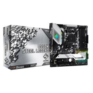 Placa Mãe AsRock B550M Steel Legend mATX AM4 DDR4 HDMI - 90-MXBCU0-A0UAYZ
