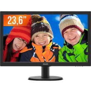 """Monitor LED 23,6"""" Full HD 1 HDMI 243V5QHAB Philips IPS COM AUTO FALANTE - R$683"""