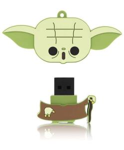 [PRIME] Pen Drive Yoda - Star Wars - 8GB USB Leitura 10MB/s e Gravação 3MB/s Multilaser -- R$27