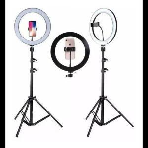 {CC AMERICANAS + AME} Kit Completo Ring Light C/ Tripé Dimmer Youtuber Selfie Pro | R$93