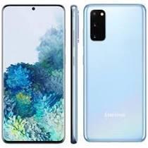 "Smartphone Samsung Galaxy S20 Azul 128GB, 8GB RAM, Tela Infinita de 6.2"" R$2997"