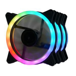 Kit Fan com 3 Unidades Redragon GC-F011, RGB, 120mm, Com Controladora, GC-F011 || R$ 130
