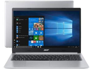 "[ CLIENTE OURO + APP ] Notebook Acer Aspire 5 A515-54-587L Intel Core i5-Quad-Core 8GB 256GB SSD 15,6"" Windows 10"