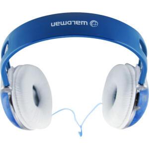 (AME R$ 18,90) Fone de ouvido Waldman Headphone azul e branco R$63